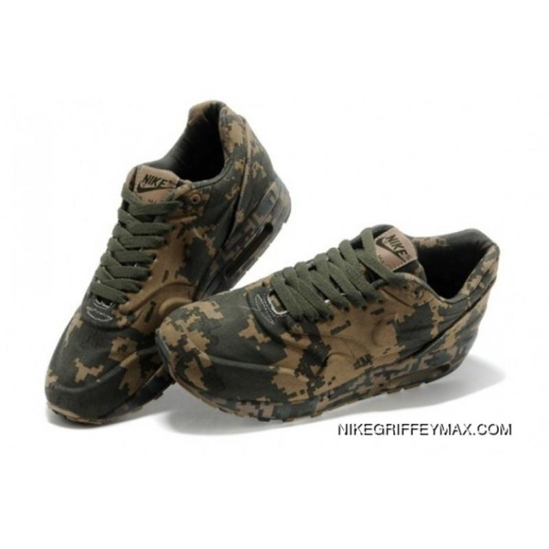 outlet store 6ac52 62d36 ... Mens Nike Air Max 1 87 Releases Pixel Dark Green New Year Deals