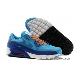 Mens Nike Air Max 90 Dark Blue Sky Blue Super Deals, Price