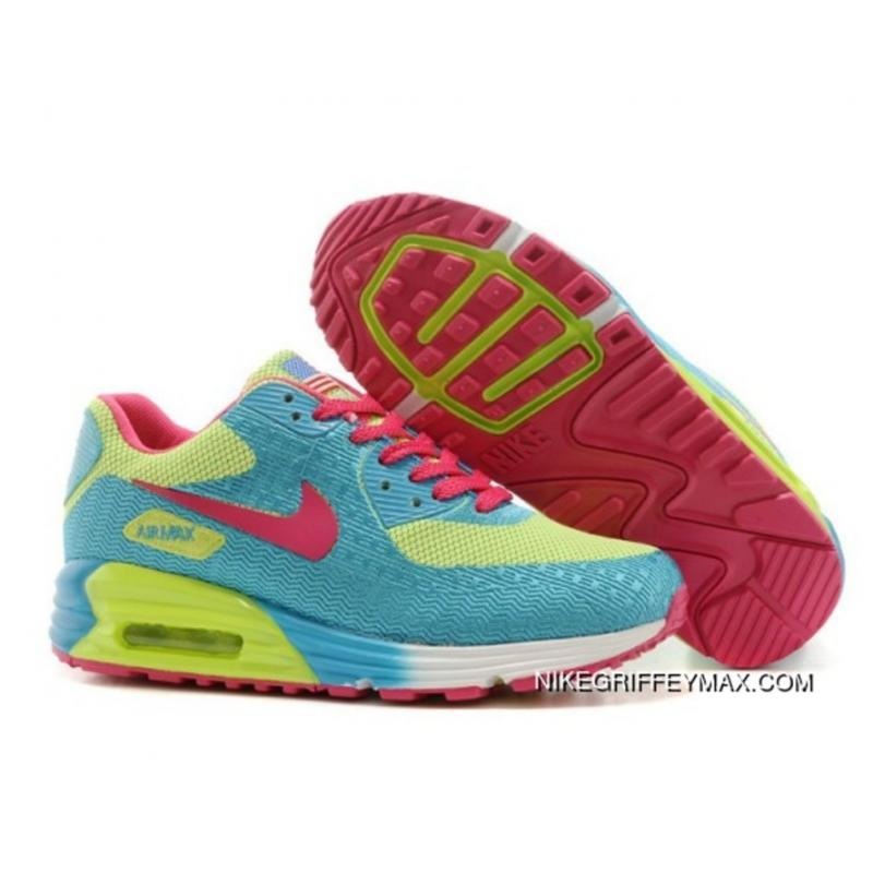 new style 656a6 5265a Womens Nike Air Max 90 Blue Red Green Free Shipping ...