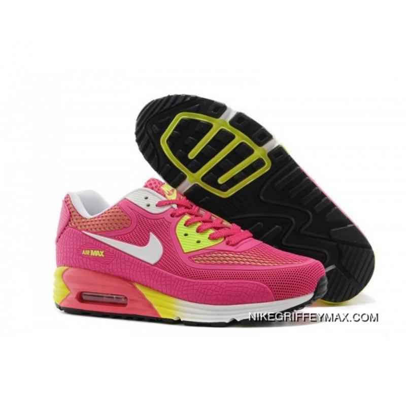 lowest price 052e6 b212a New Style Womens Nike Air Max 90 Pvc 25th Anniversary Pink Yellow ...