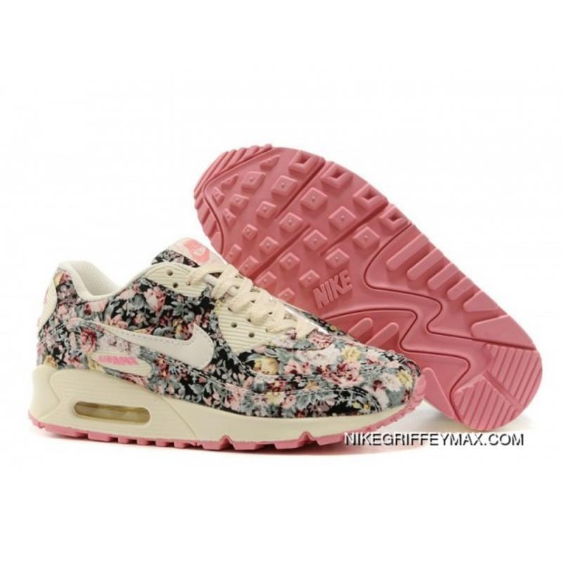 the latest 7636e 3160c Womens Nike Air Max 90 Star Series Beige Pink Online