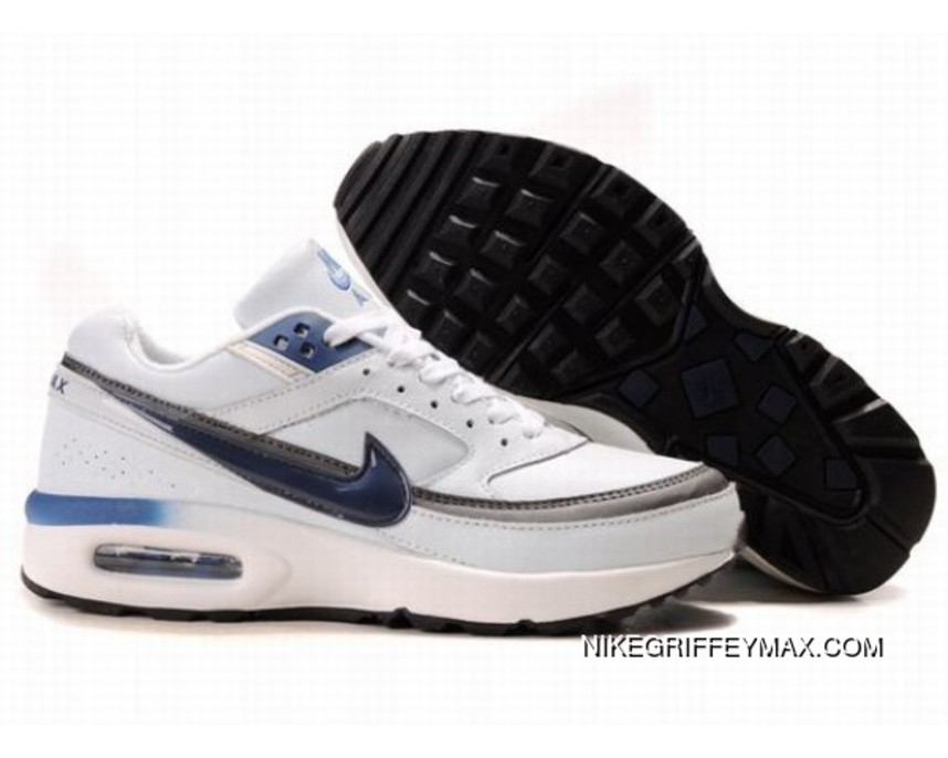 the latest bebbf 0ca28 Mens Nike Air Max Classic Bw White Gray Blue Best