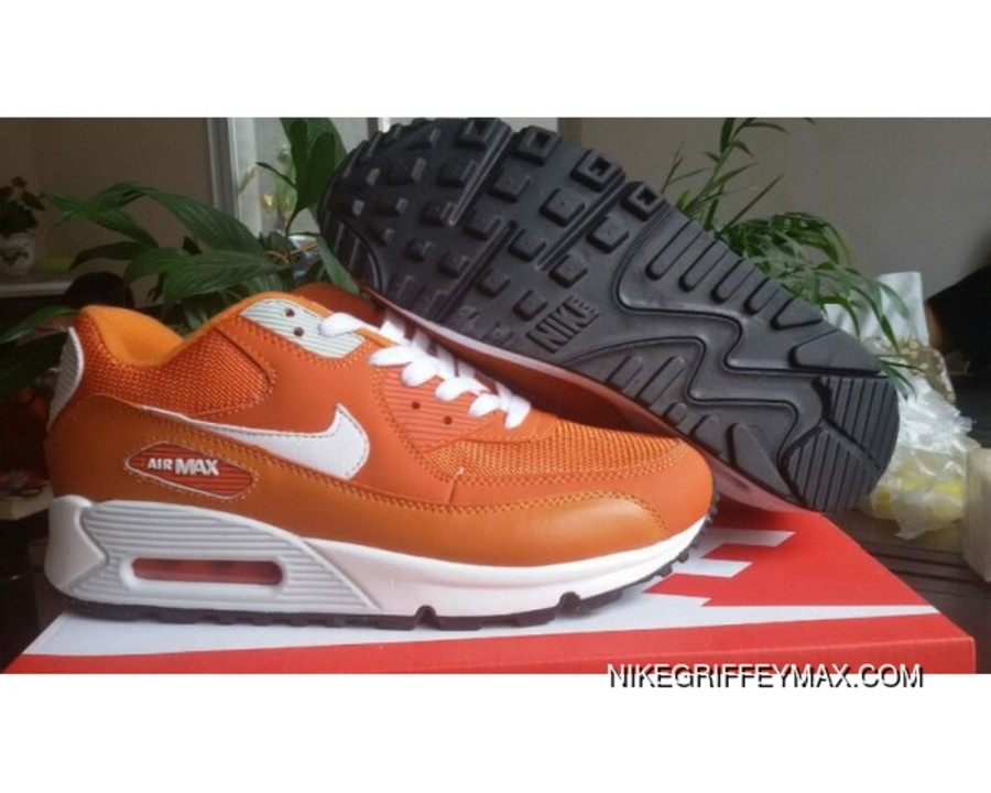new style d6175 7246f Womens Nike Air Max 90 Star Series Orange White Outlet