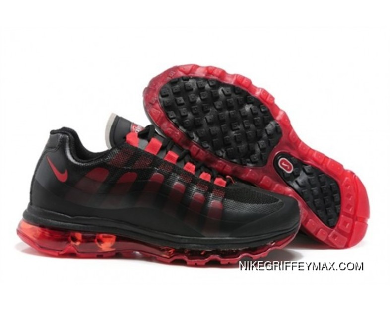 New Year Deals Womens Nike Air Max 95 360 Black Red