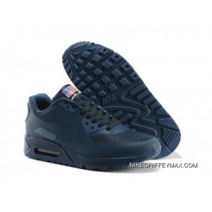 best authentic c681a 9163e New Release Couple Nike Air Max 90 Hyperfuse Dark Blue Womens Mens ...