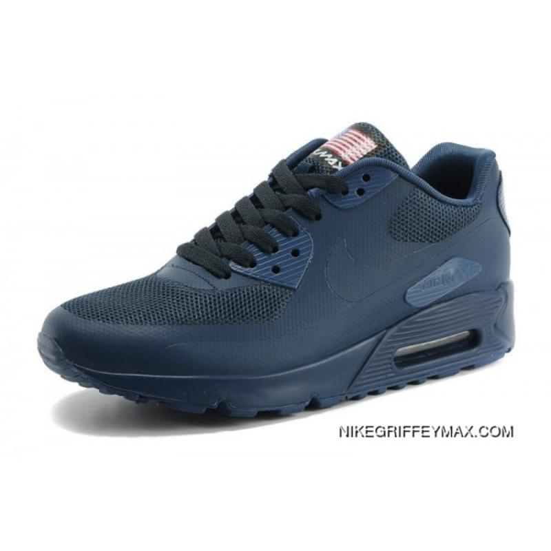 save off 2d3b5 f9a39 ... New Release Couple Nike Air Max 90 Hyperfuse Dark Blue Womens Mens