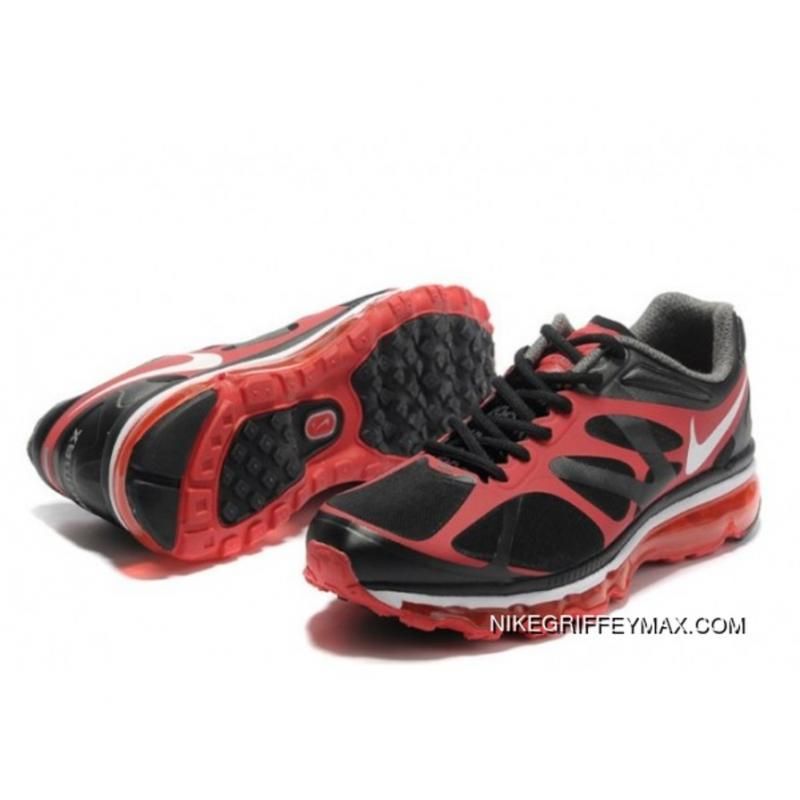 9d3412f35a1741 Outlet Mens Nike Air Max 2012 Breathable Black Red ...