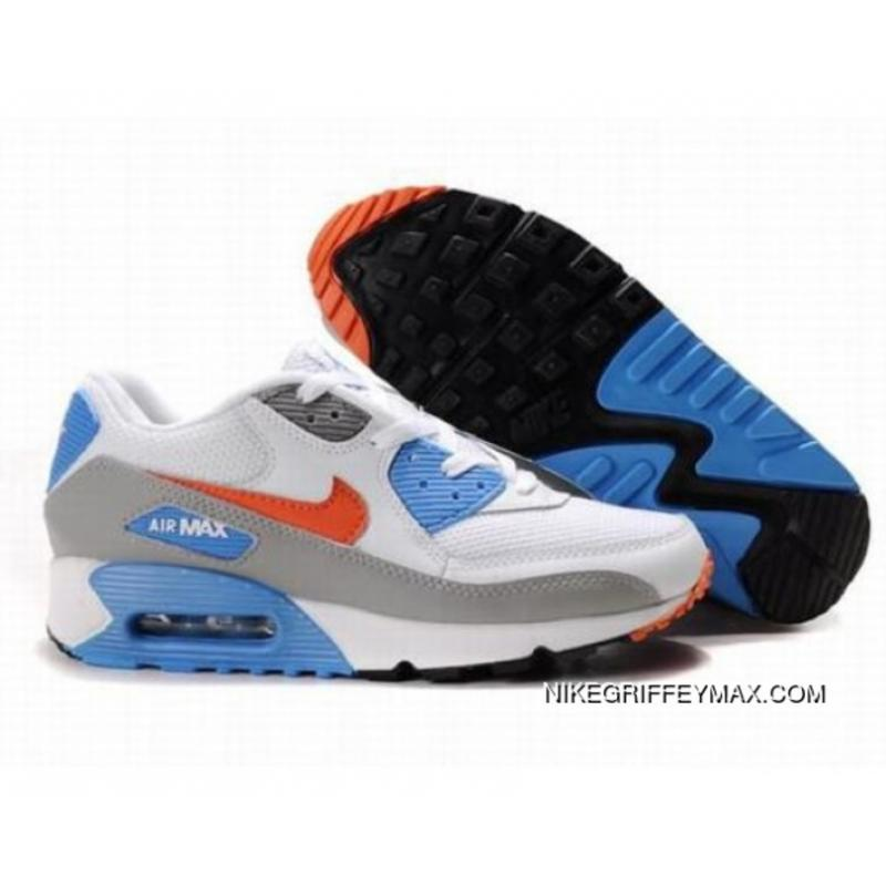 new arrival 83f3a 91773 Best Mens Nike Air Max 90 White Blue Grey Red