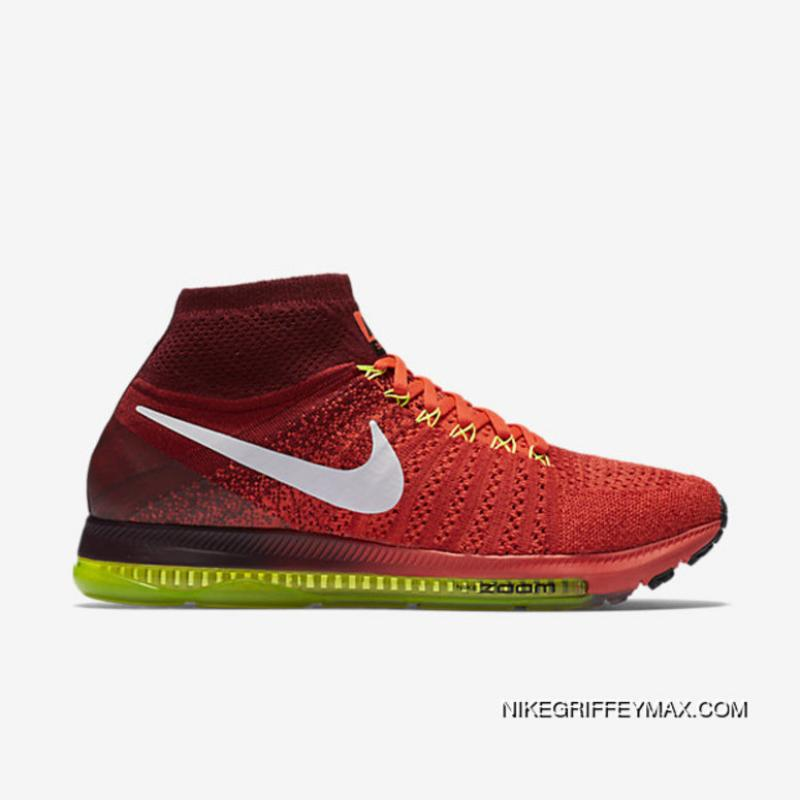 b2f6813f69fb Outlet Nike Air Zoom All Out Flyknit Mens Running Shoe Bright Crimson  V82190-290 ...