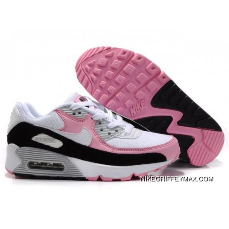 Womens Nike Air Max 90 Black White Pink Latest, Price