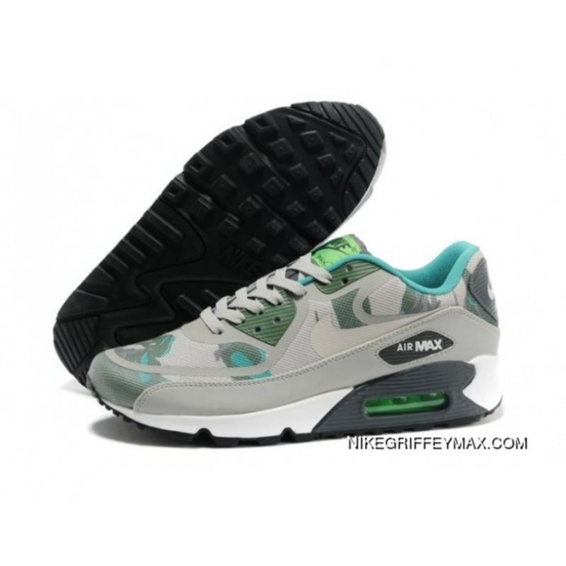 a0cd13048fbf67 Womens Nike Air Max 90 Prem Tape Grey Army Green Latest ...