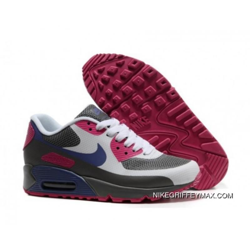 8880eb8bac97 Latest Womens Nike Air Max 90 2013 Hyperfuse Prm Grey White Red ...