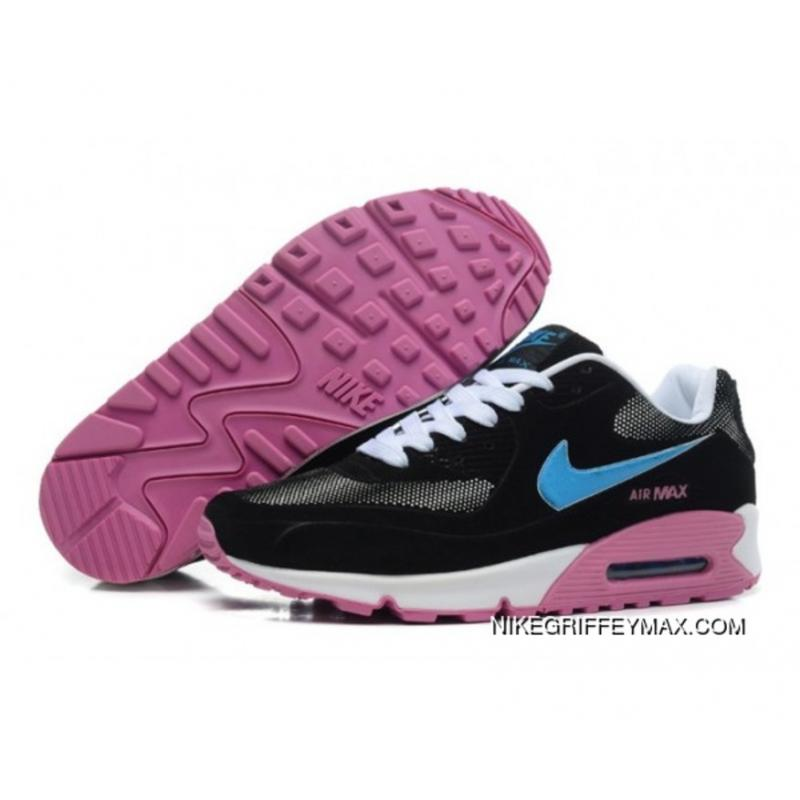 Womens Nike Air Max 90 Hyperfuse 2014 Black Blue Latest