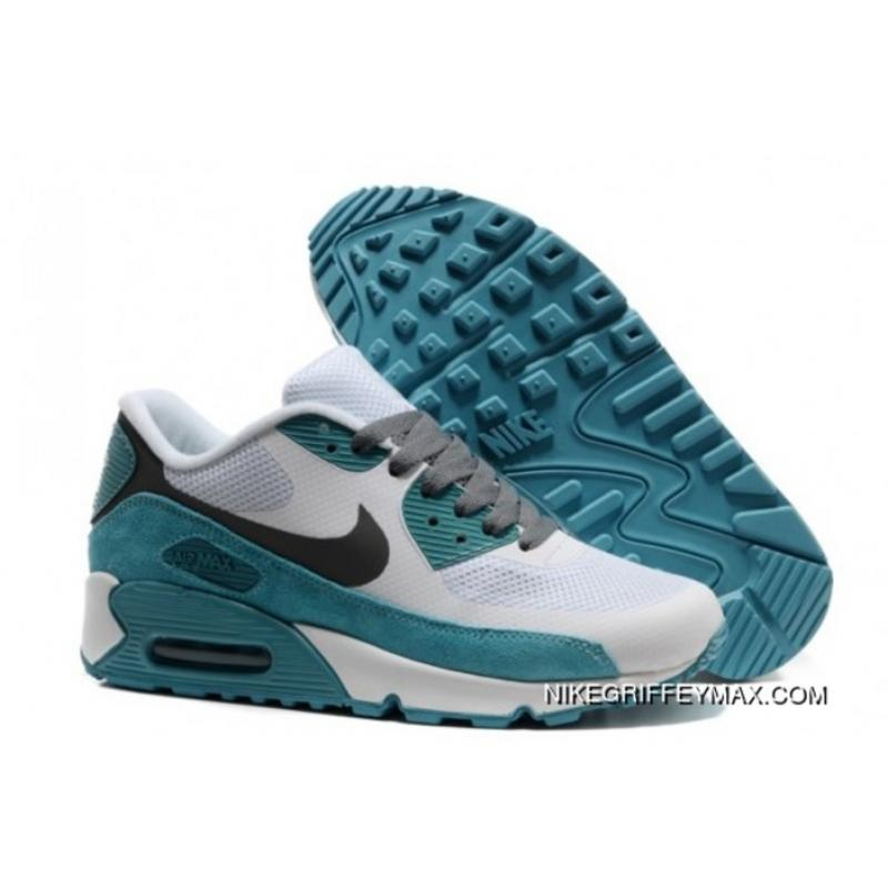 Womens Nike Air Max 90 Hyperfuse 2014 White Lake Blue For Sale