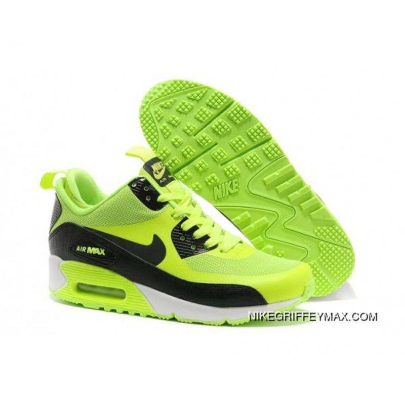 New Release Womens Nike Air Max 90 Mid No Sew Sneakerboots Ns Green Black