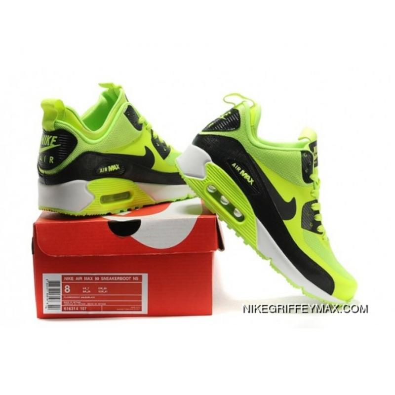buy popular 5dd7c 09407 ... New Release Womens Nike Air Max 90 Mid No Sew Sneakerboots Ns Green  Black ...