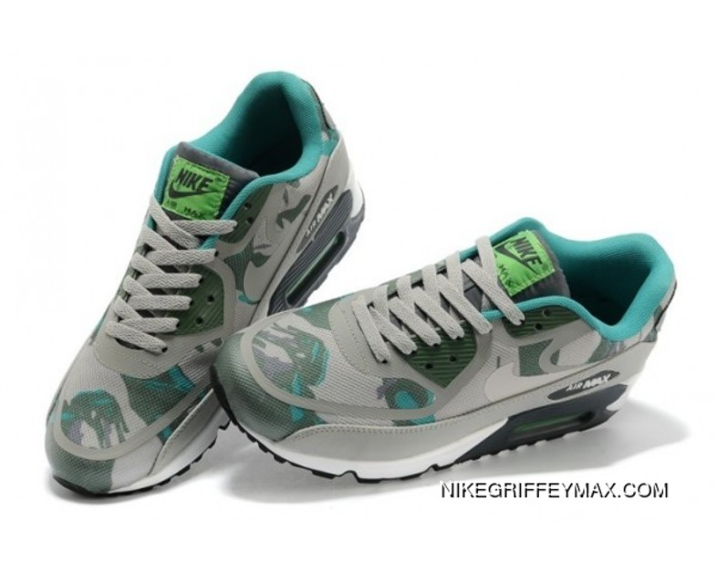 sports shoes 2bfd9 4d445 Womens Nike Air Max 90 Prem Tape Grey Army Green Latest