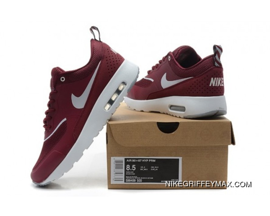 new product 8bb50 b3b95 New Style Womens Nike Air Max 90 87 Hyp Prm 2014 Wine Red