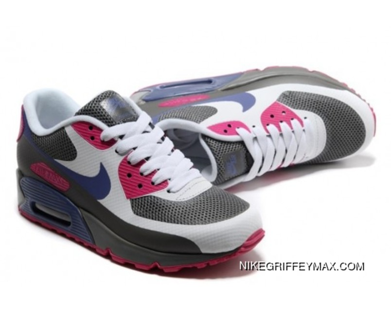 wholesale dealer 3cbca 9883e Latest Womens Nike Air Max 90 2013 Hyperfuse Prm Grey White Red