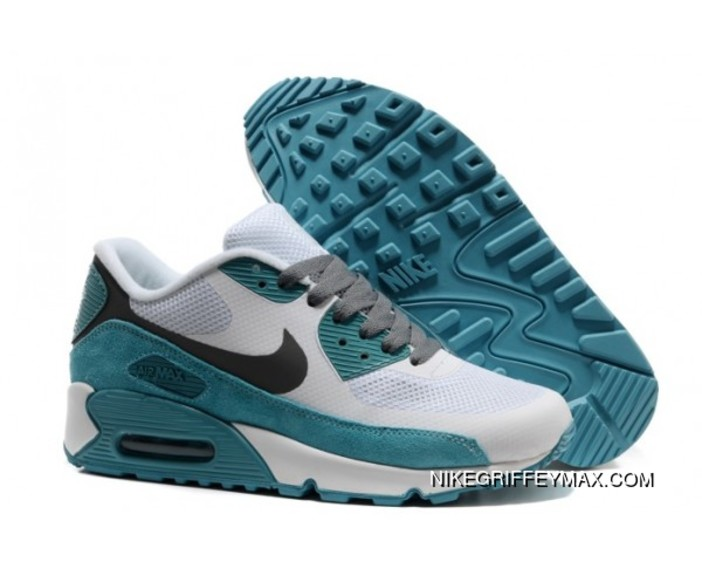 online retailer 6cb5e aa9f1 Womens Nike Air Max 90 Hyperfuse 2014 White Lake Blue For Sale