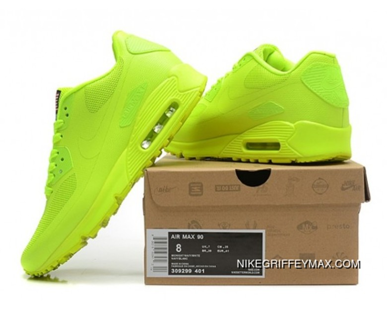 huge discount 0af86 8ee4a Discount Womens Nike Air Max 90 Hyperfuse Qs All Lemon Green, Price ...