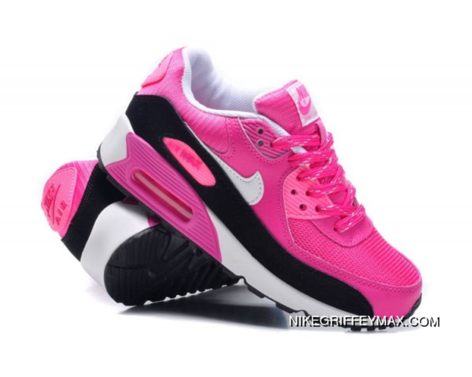 59f179571482 Womens Nike Air Max 90 Hyperfuse Red White Black Outlet