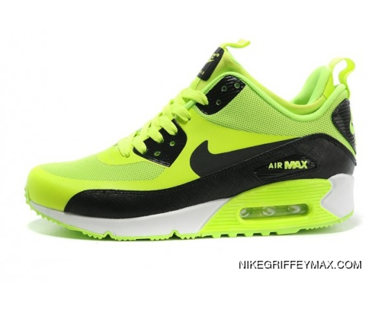 size 40 5d86d cc5b8 New Release Womens Nike Air Max 90 Mid No Sew Sneakerboots Ns Green Black